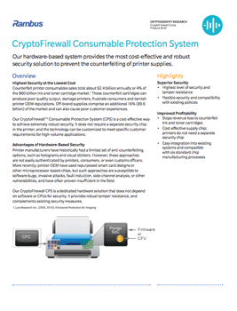 CryptoFirewall Consumable Protection System