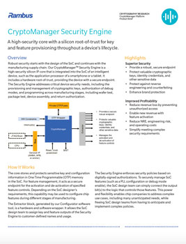 CryptoManager Security Engine Product Brief