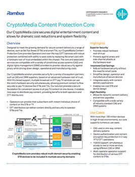 CryptoMedia Content Protection Core Product Brief