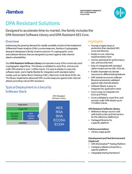 DPA Resistant Solutions Product Brief