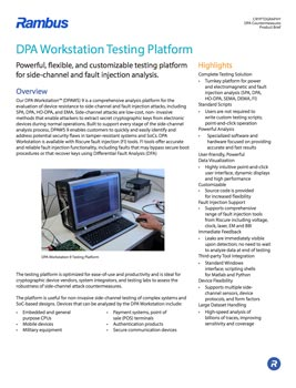 DPA Workstation Product Brief