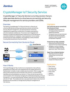 CryptoManager IoT Device Management