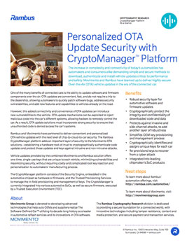 Personalized OTA Update Security with CryptoManager Platform