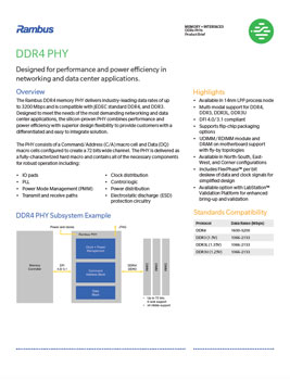 DDR4 PHY Product Brief