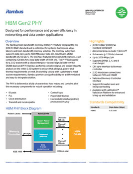 HBM Gen2 PHY Product Brief