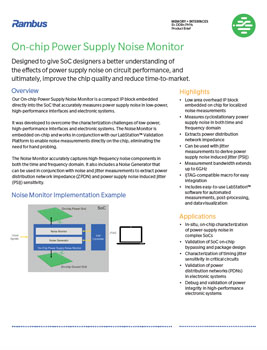 On-Chip Noise Monitor Product Brief