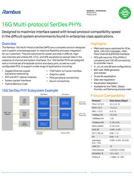 16G PHY Product Brief
