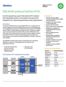 56G PHY Product Brief