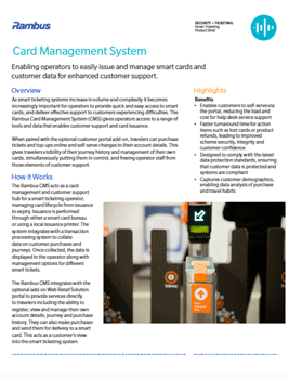 Card Management System Product Brief
