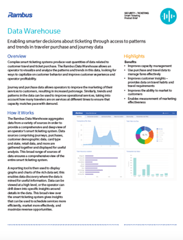 Data Warehouse Product Brief