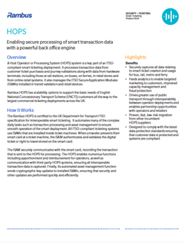 HOPS Product Brief