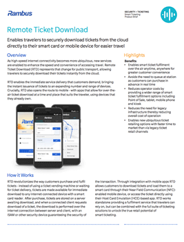 Remote Ticket Download Product Brief